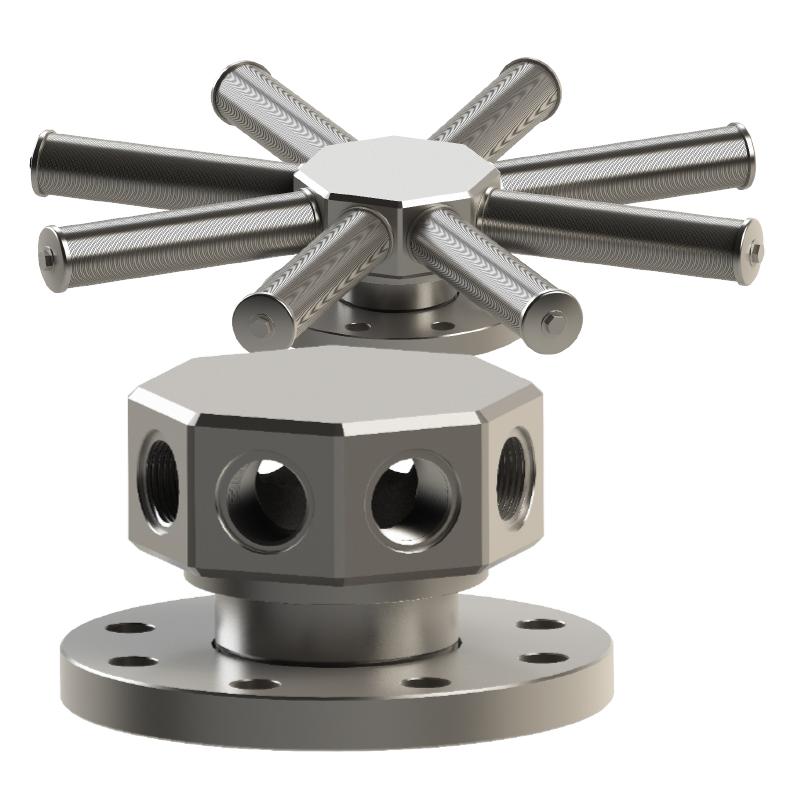 filtro estrella en acero inoxidable mod.CAD08