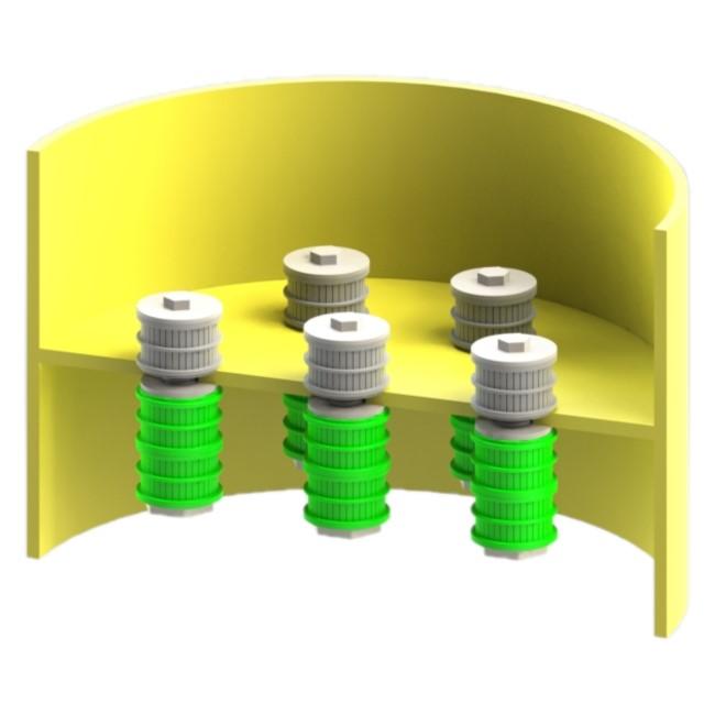 crepinas filtrante para placa intermedia