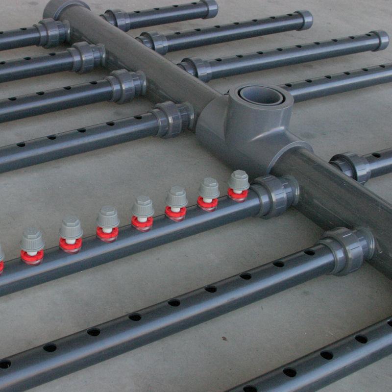 colector de drenaje con crepinas modelo CHNO
