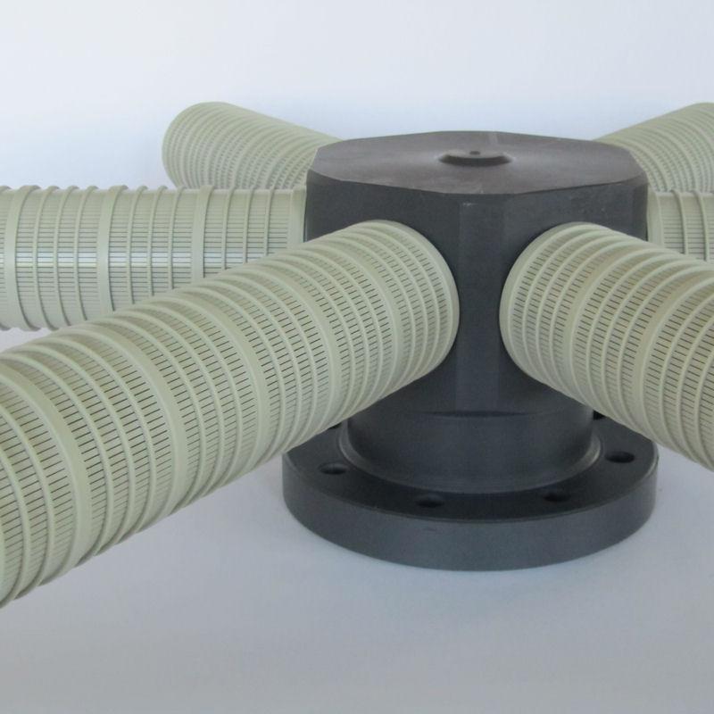 filtro colector en pvc modelo PVCC