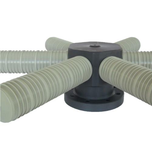 collecteur de drainage en pvc mod.PVCC