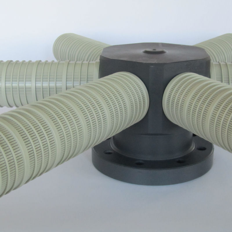 collecteur de drainage en pvc modele PVCC